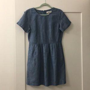Madewell chambray linen dress